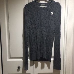 Abercrombie & Fitch men's grey sweater size L